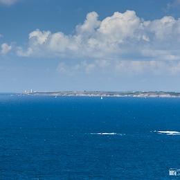 Far far away Pointe Saint-Mathieu from Pointe de Pen-Hir