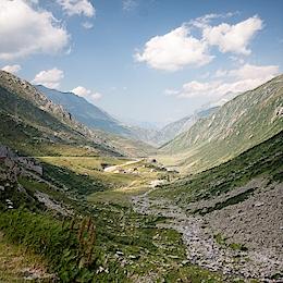 V průsmyku Sv. Gottharda