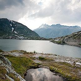 Grimsel-Passhöhe, jezero Totensee